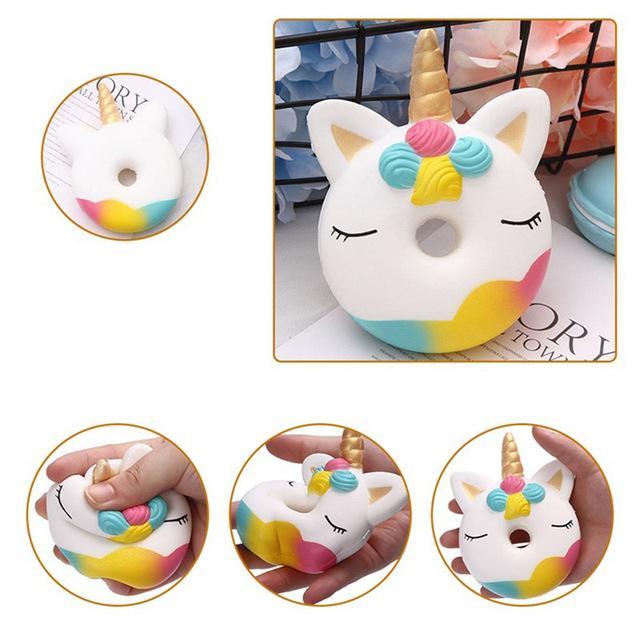 Kawaii Round Unicorn Patterned Squishy Toy