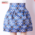 Russian-style high-waisted upscale skirts, Autumn and winter Slim plaid rubber tutu skirts for women AS322