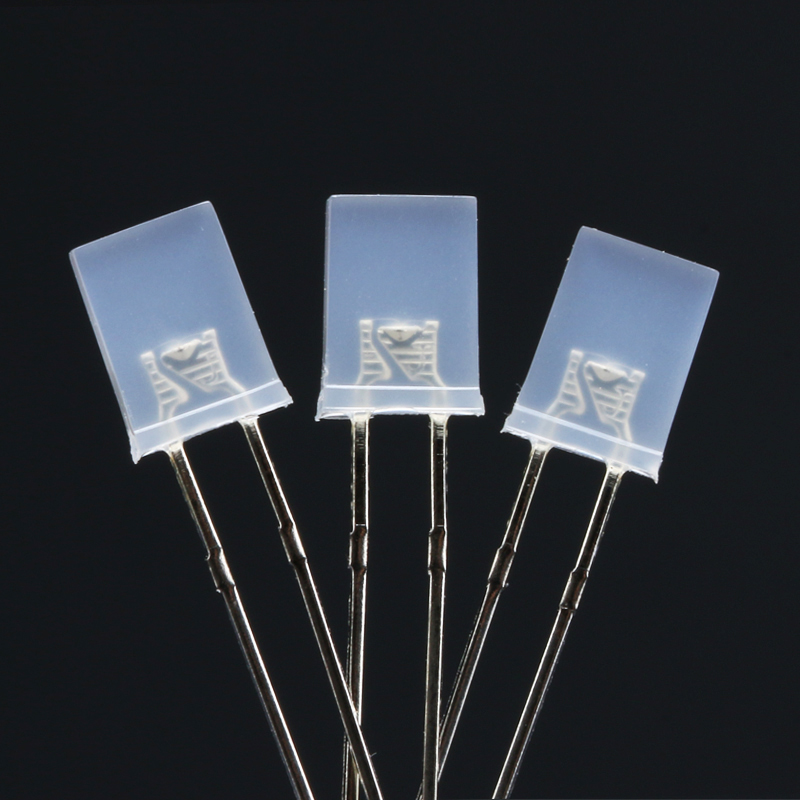 50pcs 2*<font><b>5</b></font>*7 Diodes Rectangle 2x5x7 White to Blue Diffused Light Emitting Diode 2*<font><b>5</b></font>*7 Led Foggy <font><b>DIY</b></font> <font><b>Kit</b></font> image