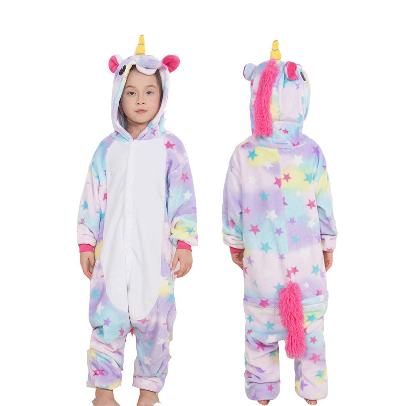 2654b6e94deb Bebe Children Pajamas Unicorn Stars Winter Pajama Cartoon One Piece ...