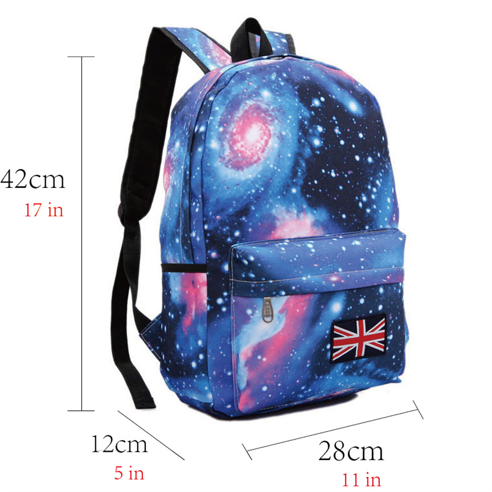 Korean School Backpacks Galaxy Stylish Canvas Satchel Shoulder Bags Backpacks for Teenagers Schoolbag Student Book Bag Mochilas