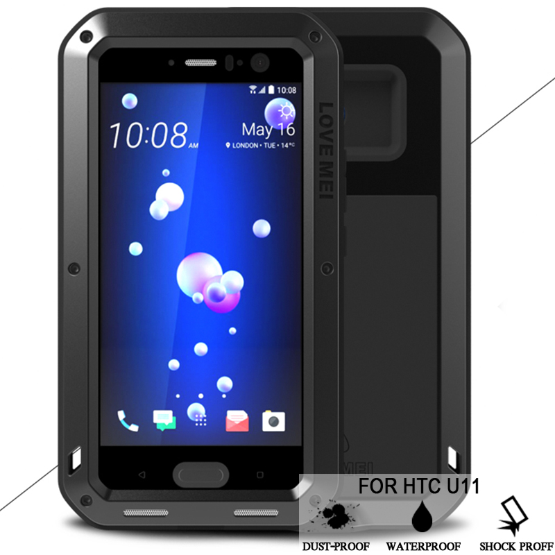 LOVE MEI Waterproof Case For HTC U11 Hard Shockproof Aluminum For HTC U11 Cases Luxury Brand Protection Phone Cover For HTC U11