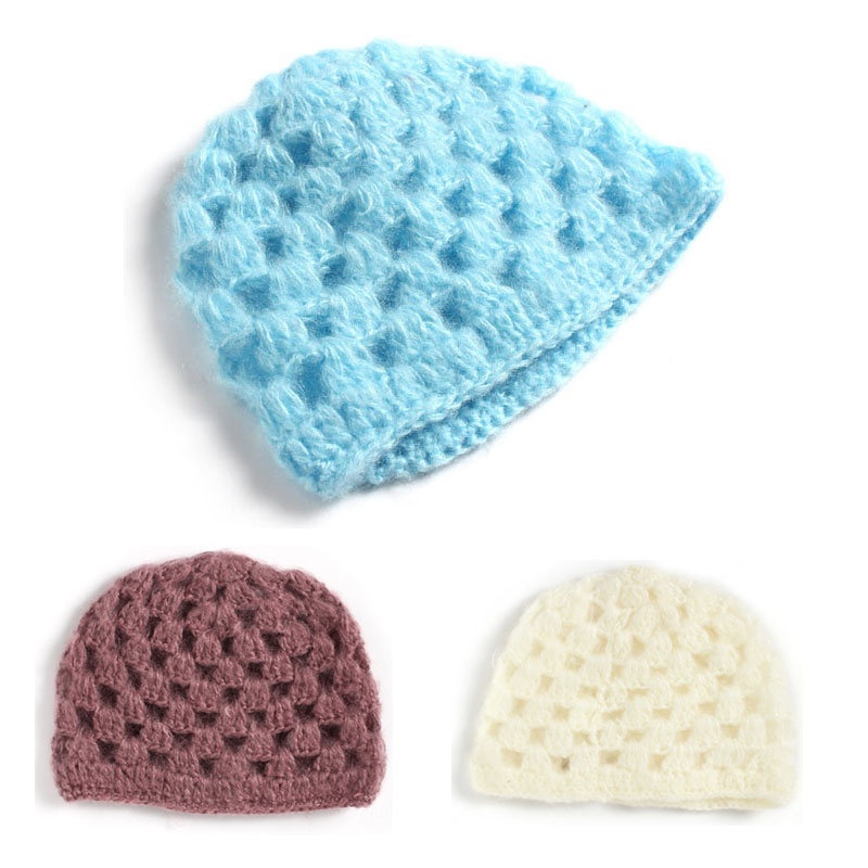 Handmade Soft Newborn Hat Winter Crochet New Born Photography Baby Beanie Cap for 0 3 Month