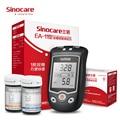 Sinocare EA-11 ácido úrico y medidor de glucosa en sangre Kit mmol/L & 50 tiras de prueba de glucosa 30 tiras de ácido úrico medidor para diabéticos