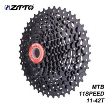 купить ZTTO MTB Bicycle Parts Bike Wide Ratio MTB Cassette 11 Speed 11-42T BLACK Compatible For Parts M7000 M8000 M9000 по цене 2383.8 рублей
