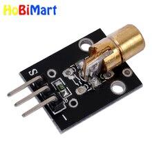 2 шт. KY-008 650 нм 5В красный лазерный датчик 6 мм 5 мВт модуль передатчика Dot диод Медная головка для Arduino Совместимость с UNO MEGA 2560