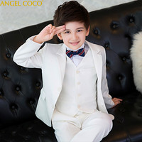 Boys suits for weddings Blue Kids Prom Suits Wedding Suits Kids tuexdo Children Clothing Set Boy Formal Classic Costume 5pcs/set