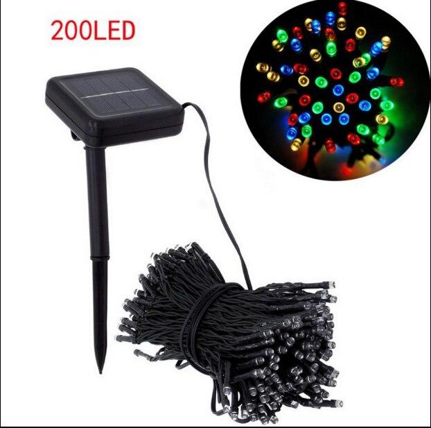 220cm 200 LED Solar Lamper Power LED String Garlands Lights Solar Garden Julelys Holiday Outdoor Fairy Lights Vandtæt