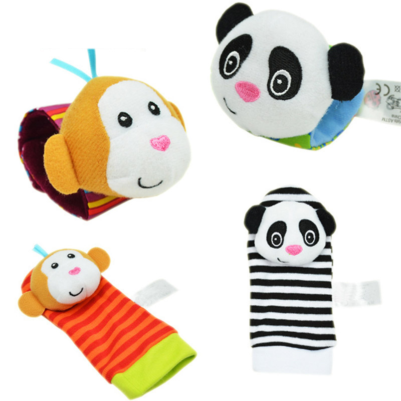 2pcs-Baby-Rattles-Stuffed-Toys-Animal-Socks-Plush-Rattle-with-Ring-Bell-Toy-For-Toddlers-Learning (1)