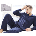FASHION&BRAND Men's Clothing homewear  V15AWMH004 pyjamas cotton Men's Sleep  Lounge Pajama Sets pijama long sleeve blouse pants