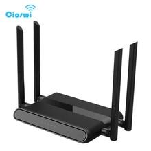 Roteador de wifi sem fio 5g, wi fi repetidor 1167mbps ddr2 64mb 2.4ghz/5ghz duplo ponto de acesso de interferência de banda, longo alcance