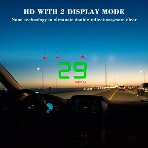 Image 4 - A5 범용 자동차 GPS HUD 헤드 디스플레이 속도계 디지털 오버 스피드 경고 윈드 실드 자동 탐색 진단 도구