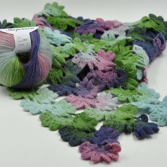 c7fbe2e94bfc Online Shop 2Balls 100% Wool Yarn Rainbow Color Melange Yarn For ...
