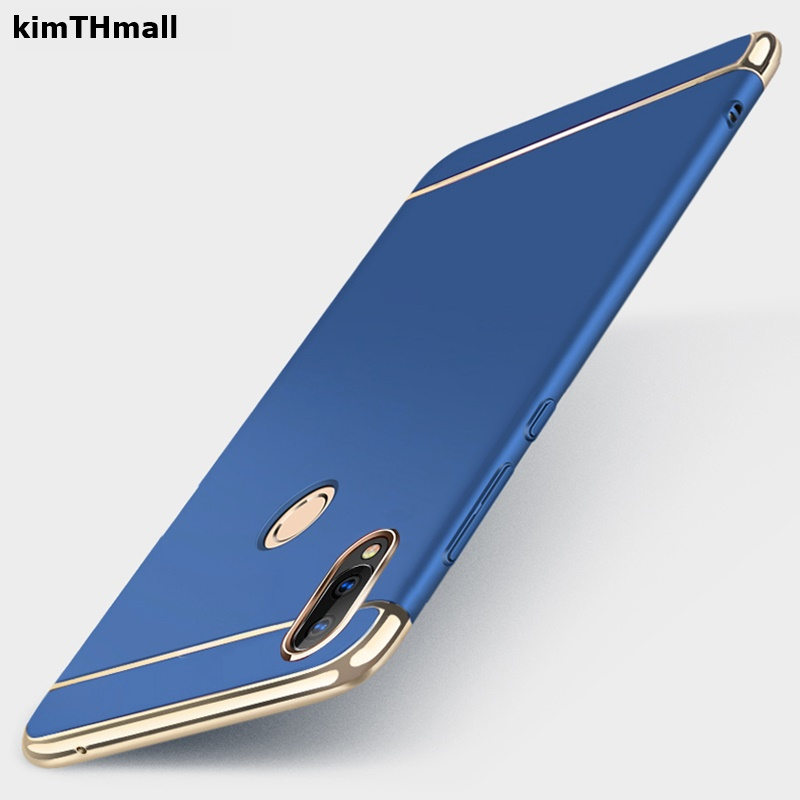 Case For Samsung Galaxy A10 A20 A30 A40 A50 A70 Cover Coque Royal Gold Metal Plating Hard Removable 3 in 1 phone Case kimTHmall image