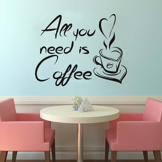Wandtattoos Kaffeetasse Wohnkultur Buchstaben Alles Was Sie
