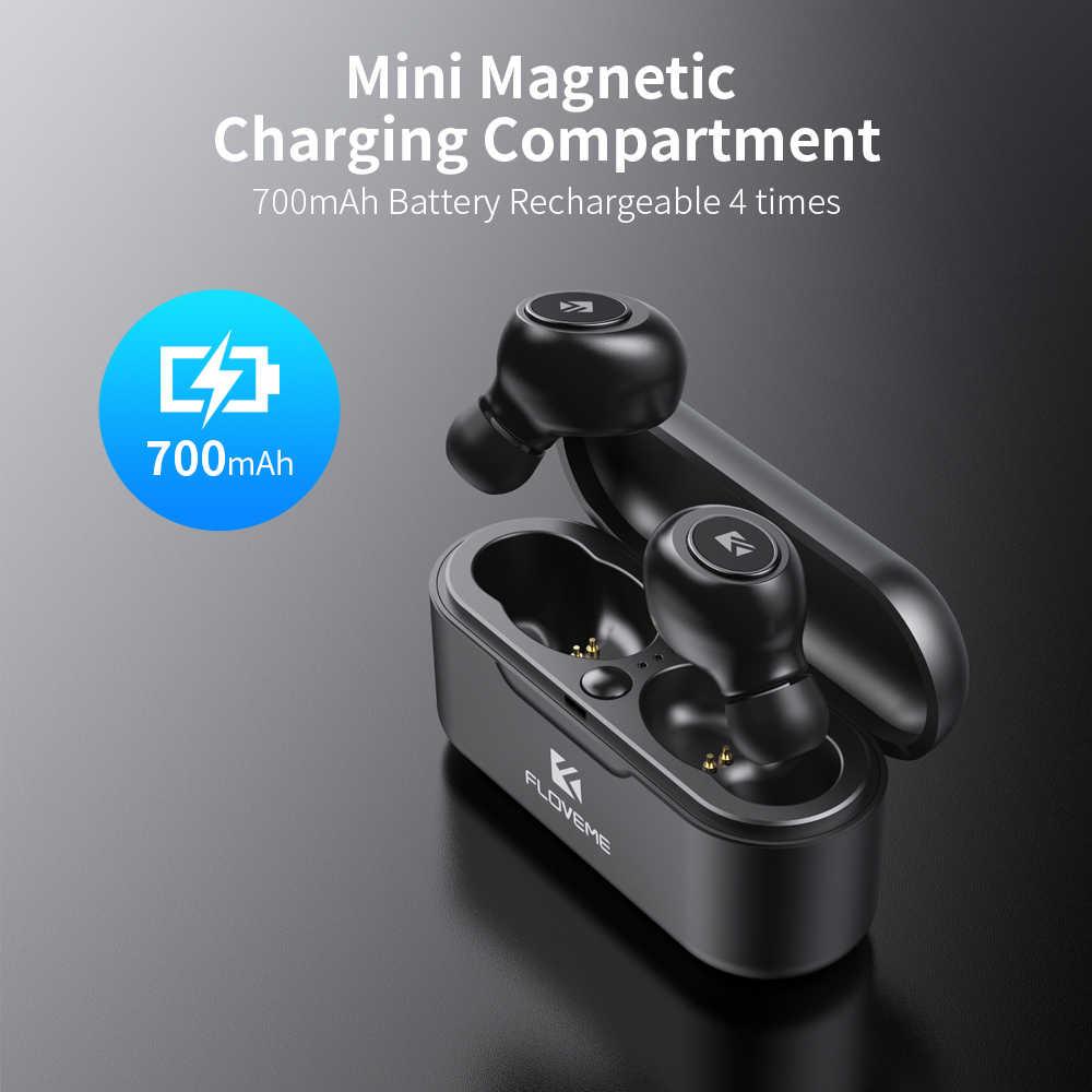 FLOVEME Kopfhörer Für TWS 5,0 Mini cuffie Bluetooth Kopfhörer fone de ouvido 3D Stereo Sound Ohrhörer Unterstützung Dual Mikrofon
