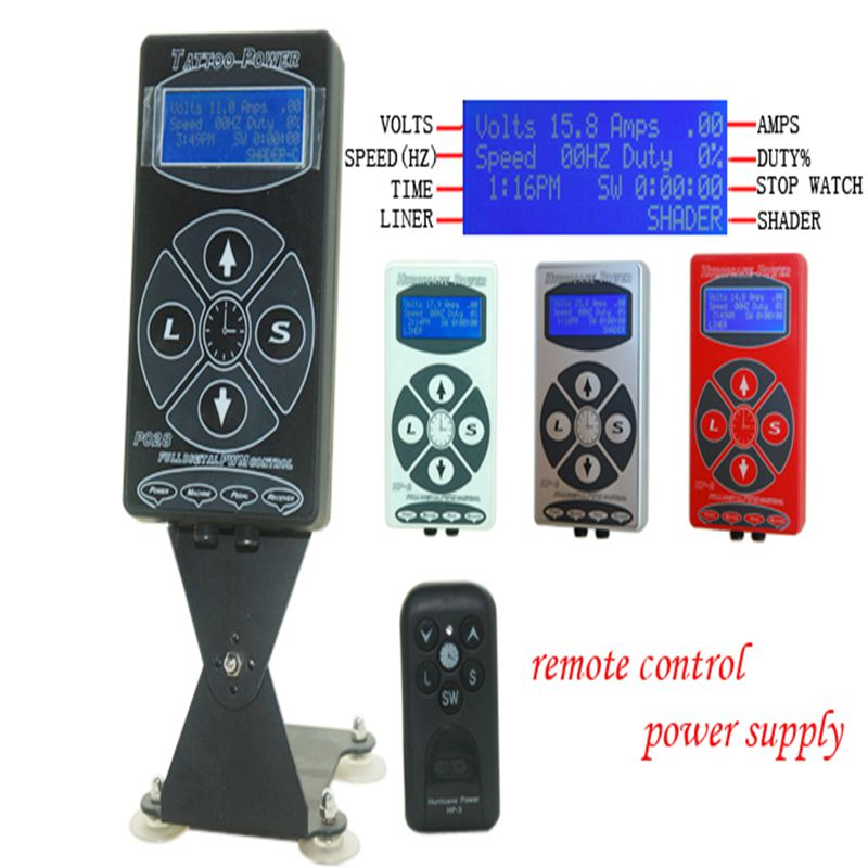 Professional Black Hurricane Digital DUAL Tattoo Power Supply High Quality Tattoo Power Supply For Tattoo Machine Free Shipping