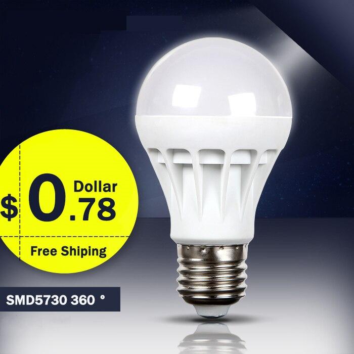 E27 Led Light Bulb SMD 5730 3W 5W 7W 9W 12W  LED Lamp AC220V Cold Warm White Led Spotlight Lamps Wholesale
