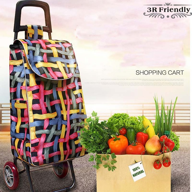 New  selling Shopping trolley Trolley Water proof Foldable light-weight Insulation super large volume trolly shopping cart bag