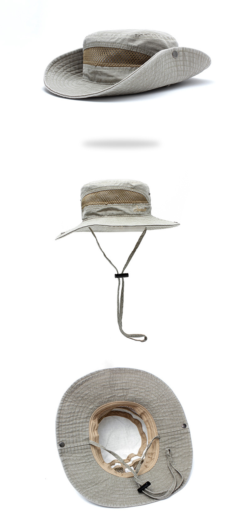 TACVASEN Men Tactical Sniper Hats Sun Boonie Hat Summer Sun-proof Military Cap Men's Cotton Safari Army Fish Hike Hats Foldable