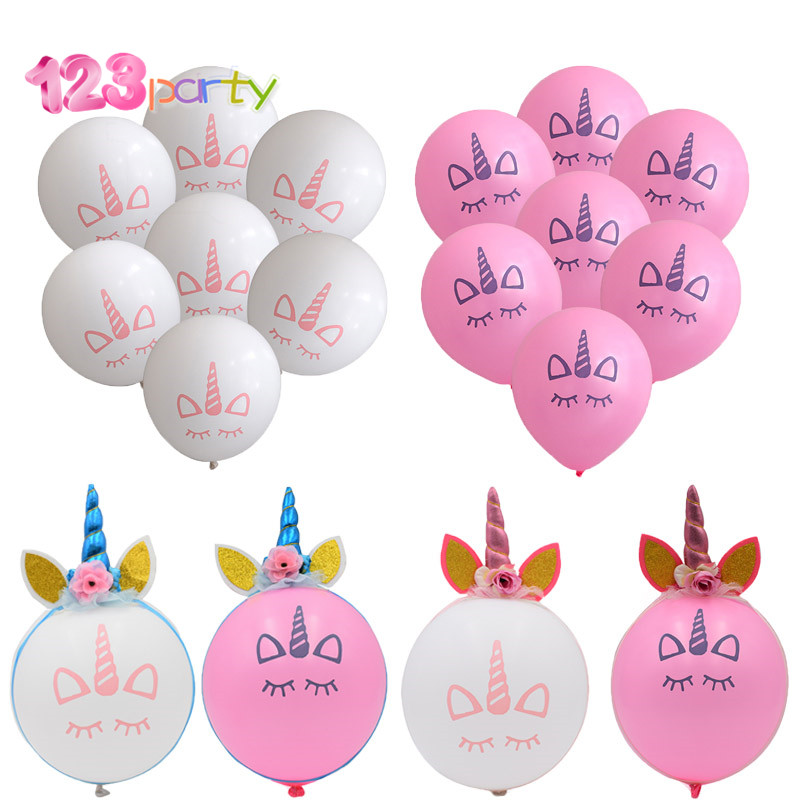 10pcs 12inch Unicorn Theme Latex Balloons Birthday Party
