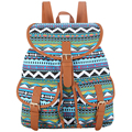 Sansarya New 2017 Striped Chevron Printing Canvas Sac A Dos Femme Back Pack School Backpack Rucksack Women Back Bag