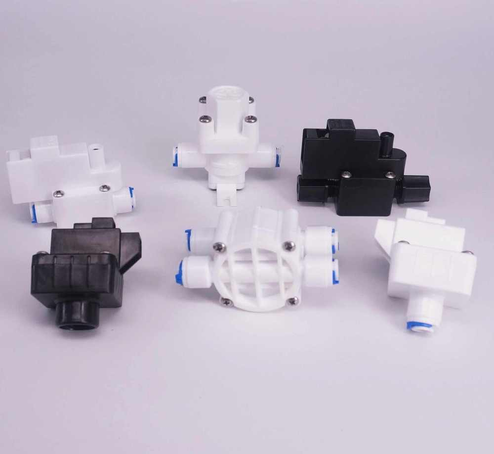 no logo WSF-Adapters 1pc Fit for 1//4 3//8 OD Tube Pushfit Low//High Pressure Switch Relief Valve RO Water Connector Fitting Aquarium Reverse Osmosis