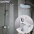 GAPPO becken wasserhahn bad badewanne wasserhahn Regen Bad badewanne wasserhähne chrome Wasser mixer wand dusche mischbatterie Sanitär Ware Suite