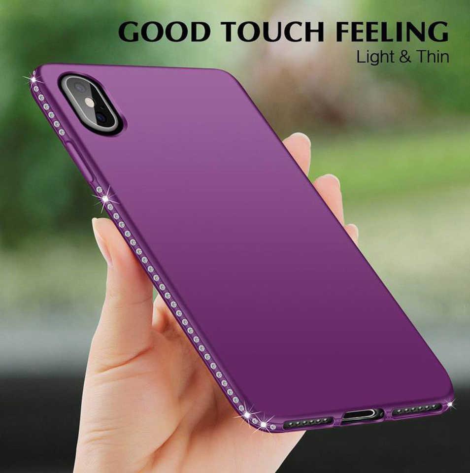 Diamantes brillo caso iphone XS MAX 6 6 s 7 7 Plus X XR Samsung A6 A8 J4 j6 2018 S8 S9 S7 S10 Lite Nota 9 8 casos de TPU