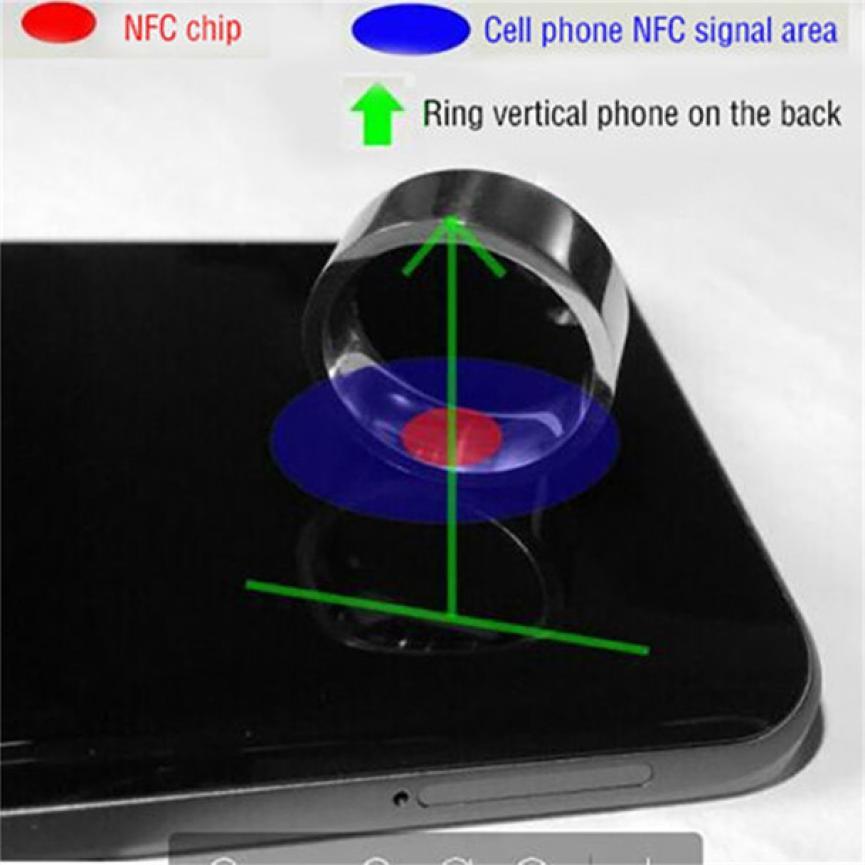 NFC Multifunctional Waterproof Intelligent Ring Smart Wear Finger Digital Ring Drop ship Apr 6-in Smart Wristbands from Consumer Electronics