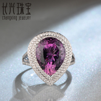 Free Shipping 14k White Gold 7 02ct Pink Amethyst Full Cut Round Diamond Engagement Ring