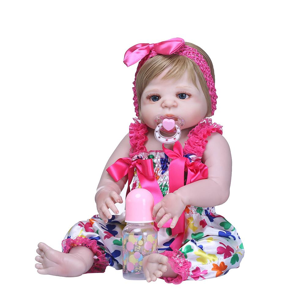 New 56cm Soft Vinyl Silicone Simulation Reborn Doll Sleeping Girl Baby Bathing Toy New 56cm Soft Vinyl Silicone Simulation Reborn Doll Sleeping Girl Baby Bathing Toy