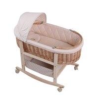 Кроватка ребенок корзиной Портативный корзина ротанга спальный Корзина Висит кроватки кровать