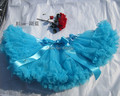 free shipping baby girls princess blue tulle dance tutu skirt fluffy chiffon pettiskirt
