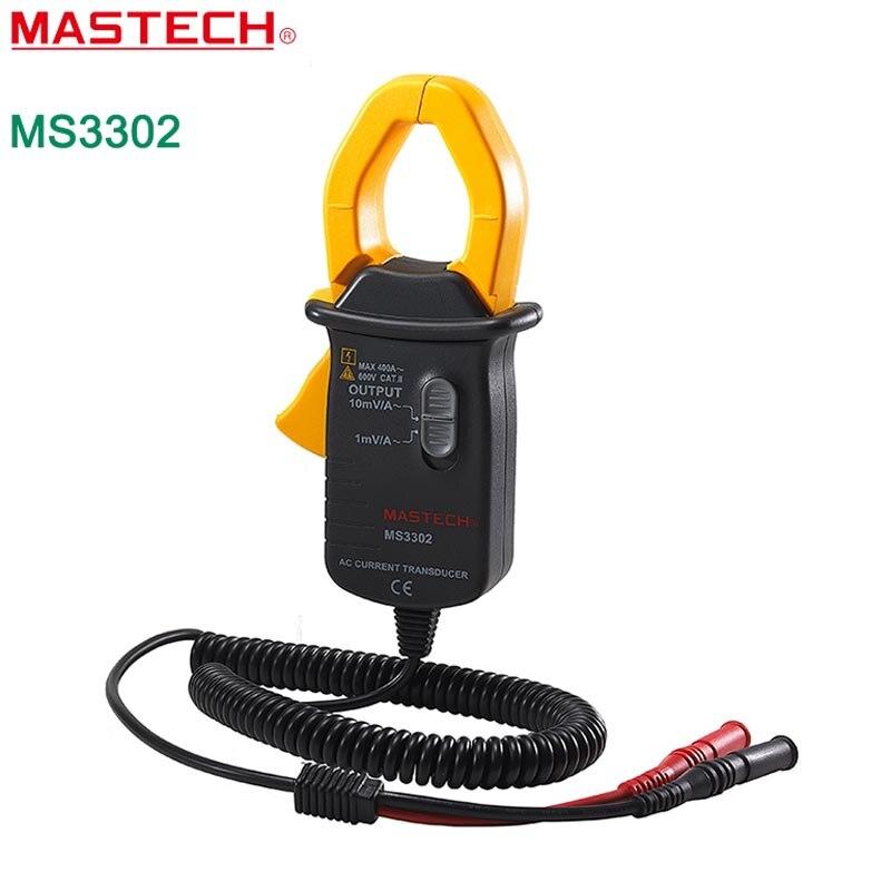 AC clamp Current Transducer MASTECH MS3302  0.1A-400A Clamp Meter Transducer True RMS TRMS MASTECH MS3302  4 8 days arrival df4 trms 4 1 2 true rms ac voltage meter ac200v ac110 220v power supply