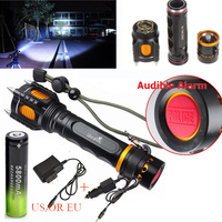 2200LM XM LT6 LED Flashlight Torch Self Defense Linterna Led Tactical Lampe Torche 18650 Rechargeable Battery