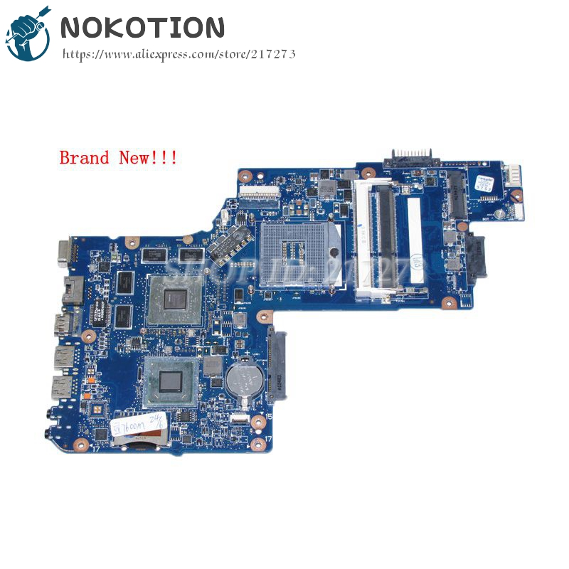 NOKOTION Brand New H000052580 Principal Board Para Toshiba Satellite C850 L850 tela de 15.6 Laptop Motherboard DDR3 HD7670M + HD4000