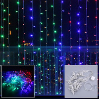 6M X 3M 600 LEDs 110V String Fairy Light Christmas Wedding Curtain Lights Party Indoor Outdoor