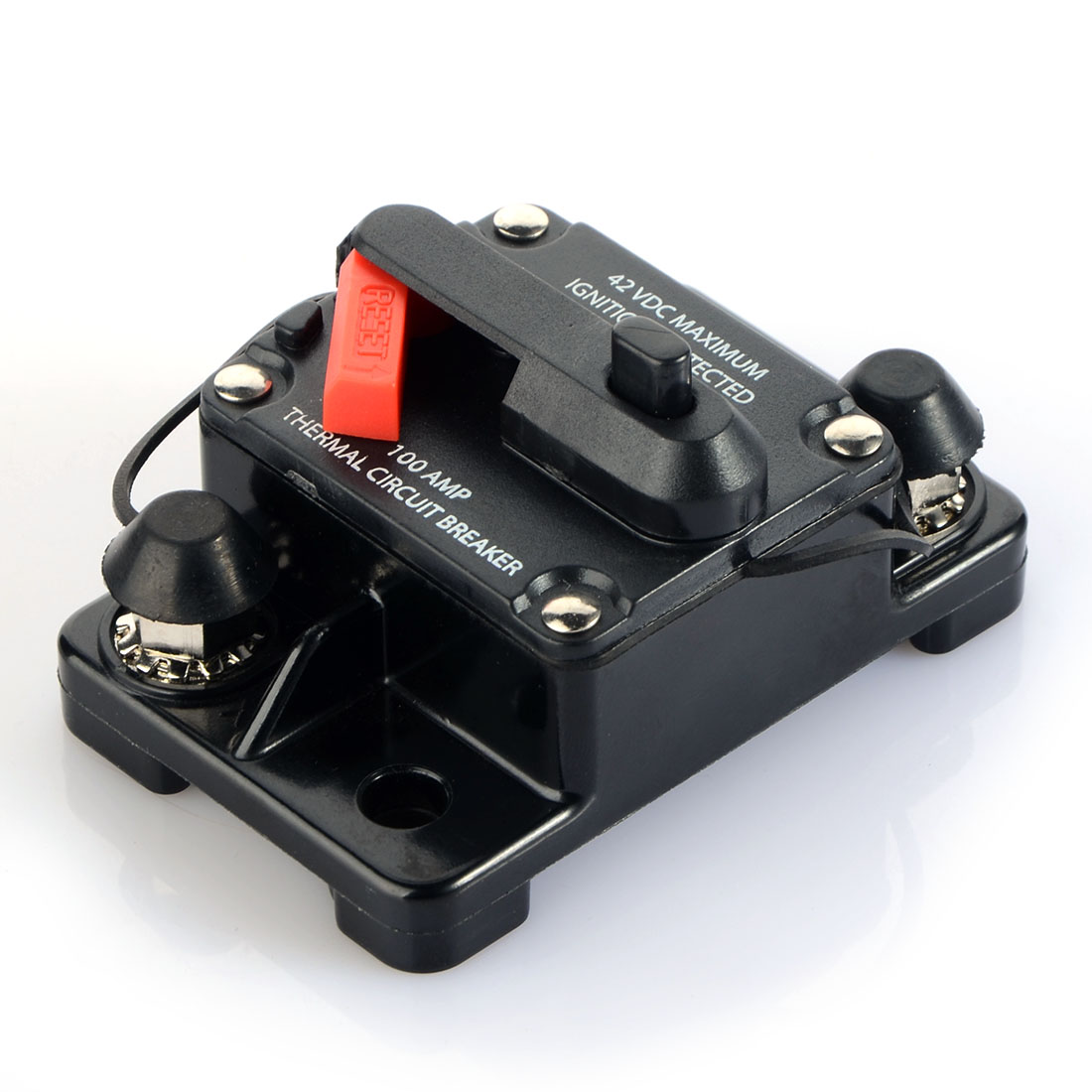 80A/100A/150A/200A/250A Amp Car Auto Audio Marine Boat Audio Circuit Breaker DC 12V/24V/42V marine 52mm ammeter amp gauge with current sensor for motorcycle car marine boat yacht with backlight 12v 24v 150a 80a