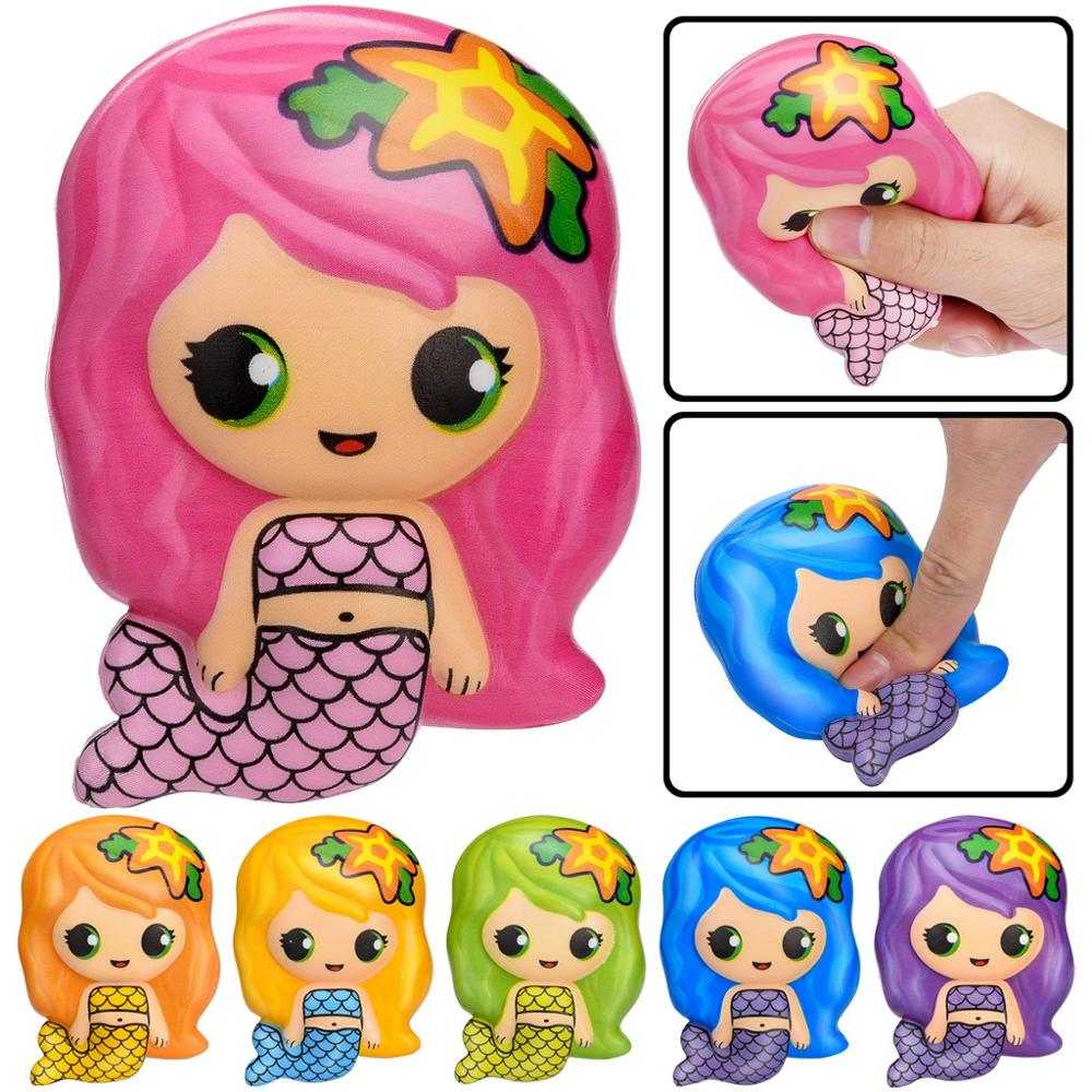 Squishy Cute Mermaid Antistress Ball Squeeze Squishies Toy Kawaii Mermaid Slow Rising Cream Scented Stress Relief Toys Gifts