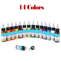 14 Bottles Tattoo Ink Pigment For Permanent Makeup Body Paint Easy To Wear Micro Pigment Tattoo Art Beauty Tools