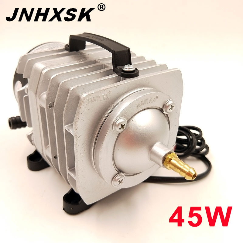 JNHXSK 45W 220V Electromagnetic Air Compressor Portable Koi Fish Tank Bubble Aquarium Air Pump Pond Aerator 45W