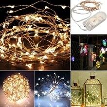 1 м струнный Сказочный светильник 10 30LED на батарейках Рождественский светильник вечерние свадебные лампы J16 19 Прямая поставка