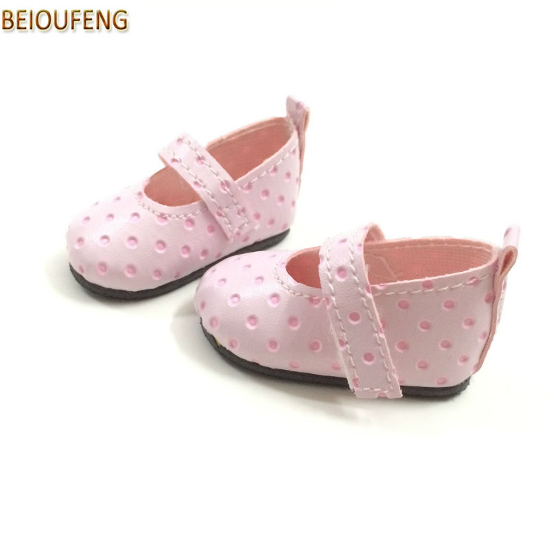BEIOUFENG Fashion Doll Shoes Summer Sneakers for Dolls 6CM,PU Toy Gym Shoes for Paola Reina Dolls,BJD Shoes Footwear 6 Pair/Lot canvas shoes for paola reina doll fashion mini toy gym shoes for tilda 1 3 bjd doll footwear sports shoes for dolls accessories
