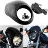 Car Styling Black Headlight Plastic Front Visor Fairing Cool Mask For Harley Dyna Sportster FX XL