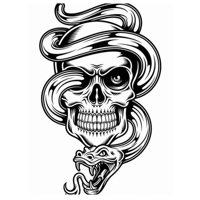 Dctal skull halloween snake sticker punk death decal halloween devil poster name car window art wall