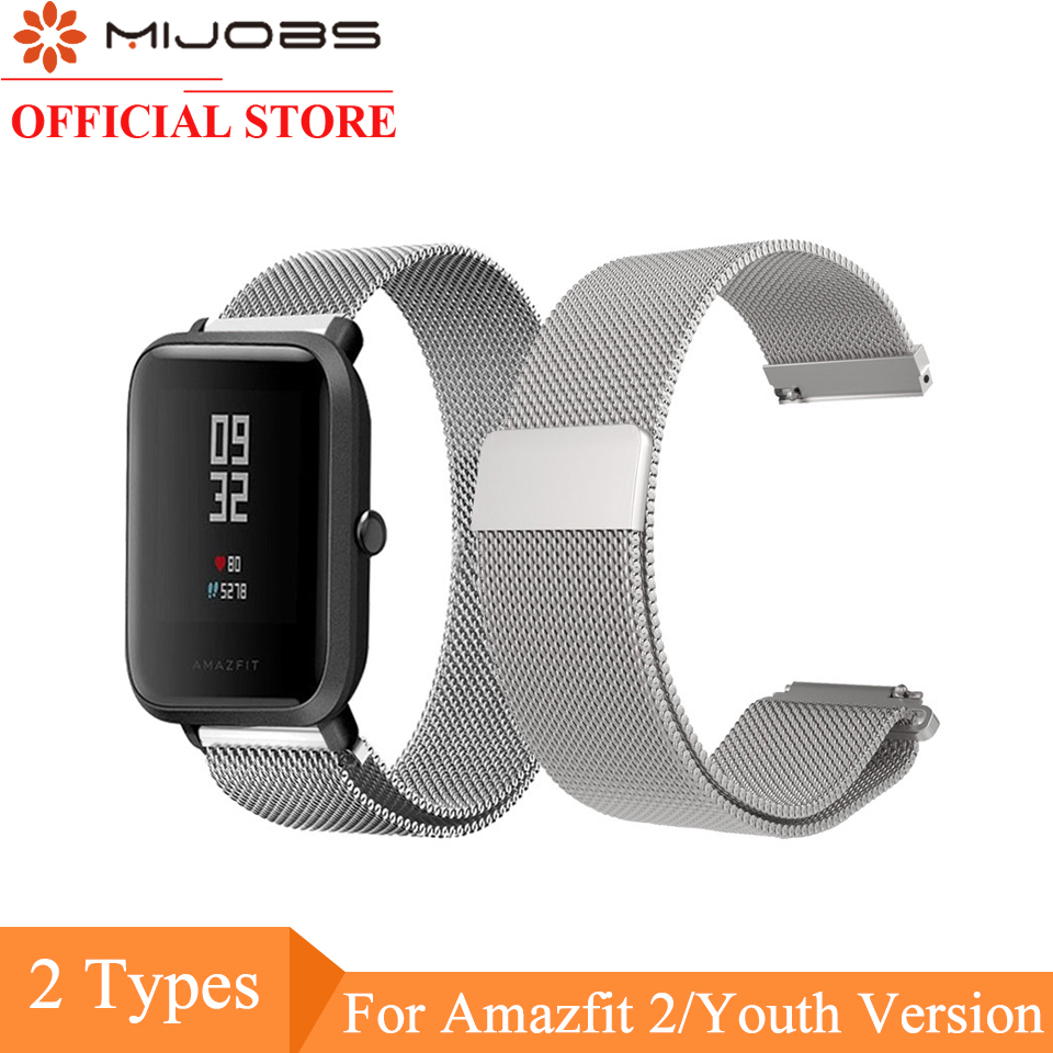 Mijobs for Xiaomi Huami Amazfit BIT Strap Metal Stainless Steel Bracelet Replacement Huami Amazfit Bip BIT PACE Lite Youth Watch mijobs for xiaomi huami amazfit bit strap metal stainless steel bracelet replacement huami amazfit bip bit pace lite youth watch
