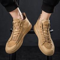 Ins Men Vintage Dad Sneakers Kanye Fashion West Hip Hop Dancing Light High Top Leather Shoes Men Tenis Masculino Adulto