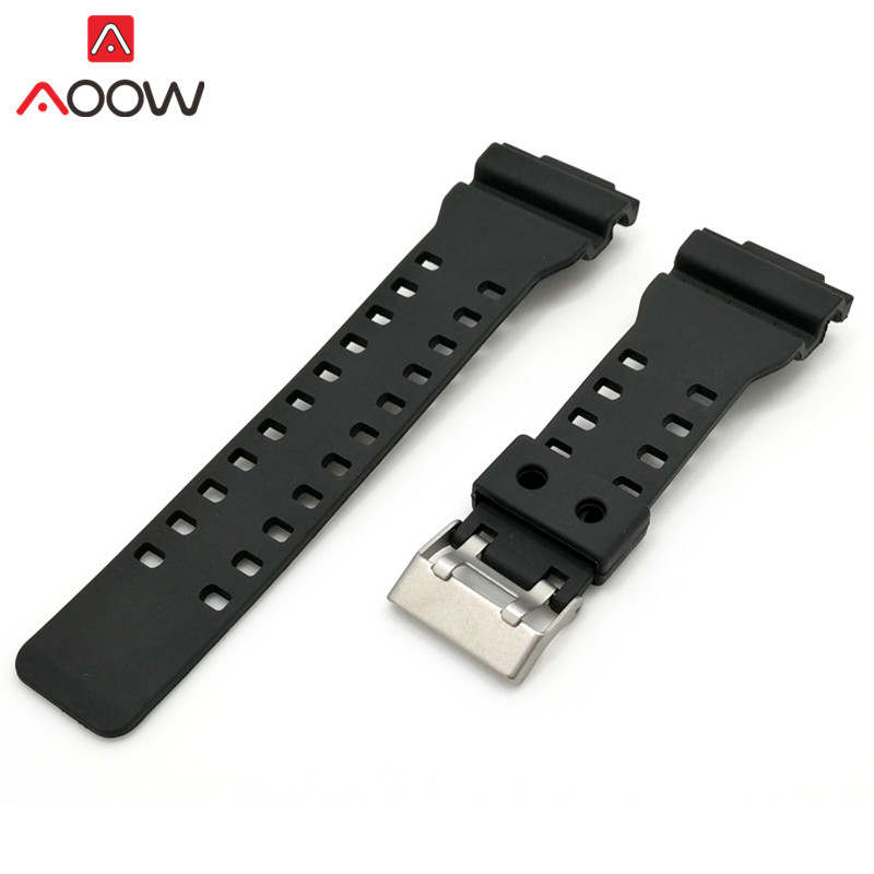 16mm Silicone Watchband for Casio G Shock Men Diving Waterproof 16*30mm Replacement Bracelet Band Strap Watch Accessories jansin 22mm watchband for garmin fenix 5 easy fit silicone replacement band sports silicone wristband for forerunner 935 gps
