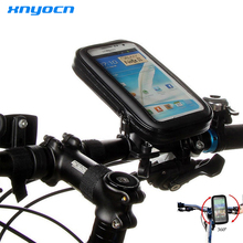 Motorcycle Bicycle Cycling GPS Pouch Mobile Phone Holder For 3.5 inch to 6.3 inch Waterproof Bag for Galaxy Note7 Note5 S6 edge+
